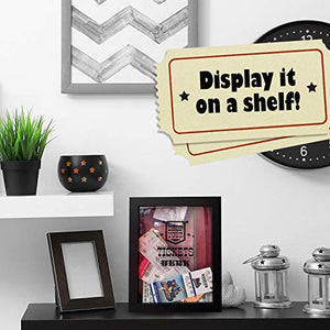 TicketShadowBox - Memento Frame - Large Slot on Top of Frame - Memory Box Storage for Any Size Tickets. Best Top Loading Shadowbox for The Concert Movie Theater & Sporting Event Ticket Stubs