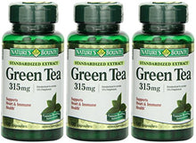 Load image into Gallery viewer, Nature's Bounty Green Tea Extract, 315mg, 300 Capsules (3 X 100 Count Bottles)