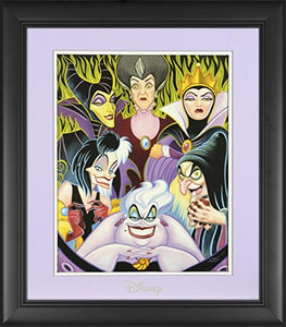 "Disney Villains Framed""Misleading Ladies"" 11"" x 14"" Matted Photo"