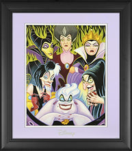 "Load image into Gallery viewer, Disney Villains Framed""Misleading Ladies"" 11"" x 14"" Matted Photo"