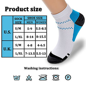 Compression Socks (3/6/7 Pairs),15-20 mmHg is Best Athletic & Medical for Men & Women