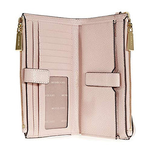 MICHAEL Michael Kors Adele Leather Smartphone Wristlet (Soft Pink)