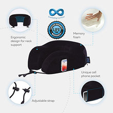 Load image into Gallery viewer, Everlasting Comfort 100% Pure Memory Foam Neck Pillow Airplane Travel Kit