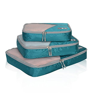 Hynes Eagle Travel Packing Cubes 3 Pieces Value Set Teal