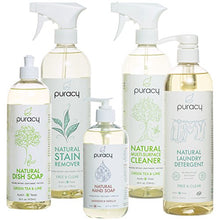 Load image into Gallery viewer, Puracy Natural Home Cleaning Set, Organic Household Cleaners and Hypoallergenic Soaps (5-Pack)