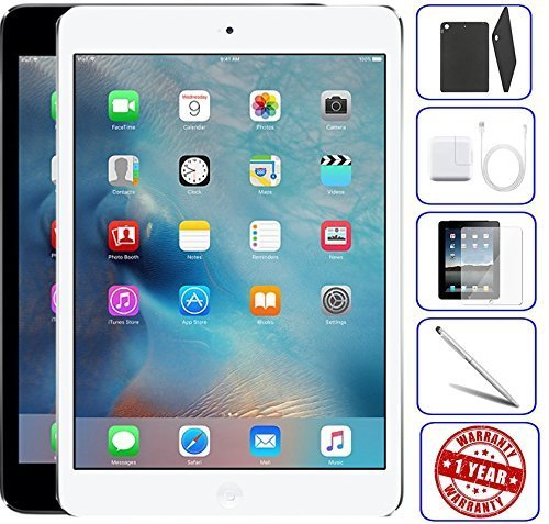 Apple iPad Mini 2 16GB,32GB,64GB,128GB - Wifi | Bundle Includes: Case, Tempered Glass, Stylus Pen, 1 Year Warranty (128GB, Space Gray) (Refurbished)