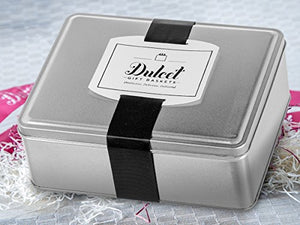 Dulcet Original Classic Mini Black and Whites Cookie Gift Tin, Gourmet Food Gift, Cookie Basket, Incudes 1 ½ IB of fresh cookies, for a great gift idea!