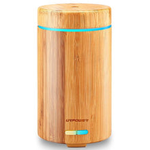 Load image into Gallery viewer, URPOWER Real Bamboo Essential Oil Diffuser Ultrasonic Aromotherapy Diffusers Cool Mist Aroma Diffuser with Adjustable Mist Modes, Waterless Auto Shut-Off, 7 Color LED Lights for Home Office
