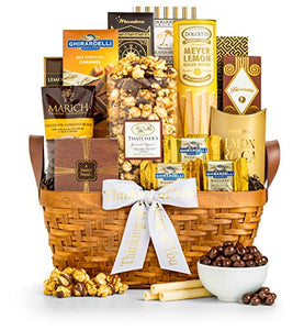 GiftTree Thinking Of You As Good As Gold Gourmet Food & Snack Gift Basket| Includes Almond Roca, Sweet Popcorn, Bourbon Creme Caramels & More | A Great Thinking Of You Gift