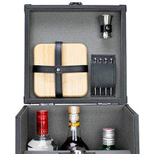 Load image into Gallery viewer, Atterstone 17-Piece Premium Travel Cocktail Set, Portable Bar-Ware Box Kit for Bartenders and Mixologists, Complete Bar Tool Accessories Kit for Hosting Serving and Entertaining