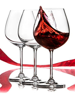 Red Wine Glasses Set - Lead Free Titanium Crystal Glass, 22 oz. Large Bowl, Long Stemmed Glassware For Great Tasting Wine - Best For Birthday, Anniversary or Wedding Gifts