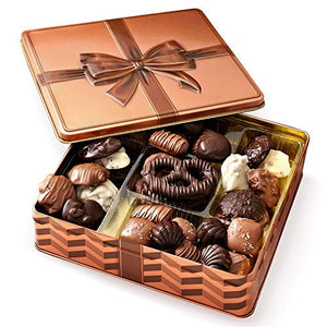 Gourmet Gift Basket - Chocolate Gift Box Food Gifts Prime - Keepsake Tin - Gift Basket - Corporate Gift Box, Assortment Tray - Birthday, Sympathy, Get Well, Men, Woman & Families - Bonnie & Pop