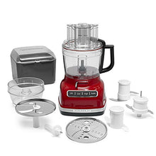 Load image into Gallery viewer, KitchenAid KFP1133ER 11-Cup Food Processor with Exact Slice System - Empire Red
