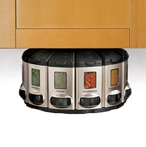 KitchenArt 57010 Select-A-Spice Auto-Measure Carousel Professional Series, Satin
