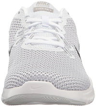 Load image into Gallery viewer, Nike Women's Flex Trainer 7 Cross, White/Metallic Silver-Pure Platinum, 9 B(M) US