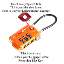 Load image into Gallery viewer, TSA Approved Cable Luggage Locks, Re-settable Combination with Alloy Body …