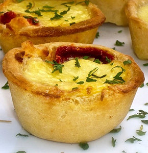 Goat Cheese Quiche - Gourmet Frozen Quiche Appetizers (40 Piece Tray)