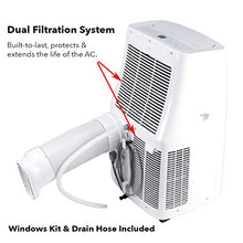 Load image into Gallery viewer, DELLA 12000 BTU Portable Air Conditioner 86 Pint/Day Dehumidifier Fan 24hr Timer Self Evaporation Rooms Up To 550 Sq. Ft. Remote Window Kit Wheels Included