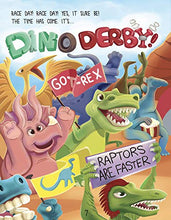 Load image into Gallery viewer, Dinosaur Derby (for Kids who Love Dinosaurs, Racing, Cars, Trains, and STEM Learning. Ages 3 and up)