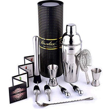 Load image into Gallery viewer, Bartender Kit - Cocktail Shaker Set - Stainless Steel Bar Tools - Gift Tube Box - Best Cocktail Margarita Mojito Cosmopolitan Martini