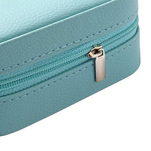 Load image into Gallery viewer, Vlando Small Faux Leather Travel Jewelry Box Organizer (Blue)