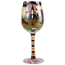 Load image into Gallery viewer, Enesco 6004429 Designs by Lolita Which Shoes Hand-Painted Artisan Wine Glass 15 Ounce Multicolor