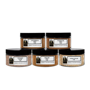Spice Specialist's Holiday Pie & Baking Spice Gift Set - Contains 5 x 4 oz. Jars Holds 2oz (1 each of: Apple Pie Spice, Pumpkin Pie Spice, Gingerbread Spice, Vanilla Sugar and Cinnamon Sugar.)