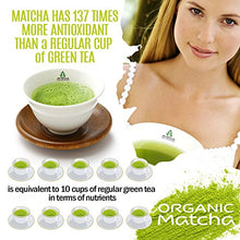 Load image into Gallery viewer, Matcha Green Tea Powder - [USDA Organic] Japanese Ceremonial Grade - Best Antioxidant 100% Pure [30g - 1oz] Original Powerful Energy Booster Distinctly Top Superfood Uji Imported Great hot N cold Brew