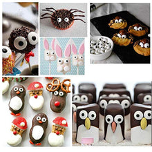 Load image into Gallery viewer, 2 Bottles Candy Eyeballs Eyes Cake Cupcake Toppers Cookie Decorations,Two Size Mixed,Sweet Personalities Edible Candy For HALLOWEEN Cake Cupcakes Decoration