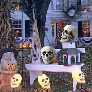 1PCS Plastic Realistic Fake Simulation Human Skull Head Bone Model Halloween Prop Realistic Skeleton Spooky Halloween Decoration Party Supplies