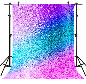OUYIDA 5X7FT Glitter Sparkles Dust Colorful On Background CP Pictorial Cloth Photography Background Computer-Printed Vinyl Backdrop PCK12