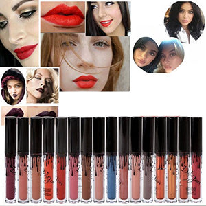 Froomer 16 Colors Waterproof Long Lasting Matte Liquid Lipstick Beauty Lip Gloss (16PCS)