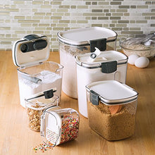 Load image into Gallery viewer, Prepworks by Progressive 6-Piece ProKeeper Set, Includes 1 of Each - Flour, Granulated Sugar, Brown Sugar, Powdered Sugar Keepers and 2 Mini Keepers, Food Storage Containers