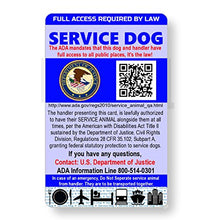 Load image into Gallery viewer, Just 4 Paws Service Dog ID Information Card | Includes Registration to U S Service Dogs Registry