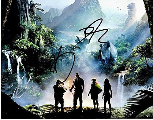 Dwayne Johnson, Karen Gillan, and Kevin Hart Signed - Autographed Jumanji: Welcome to the Jungle 11x14 inch Photo - Guaranteed to pass or JSA - PSA/DNA Certified