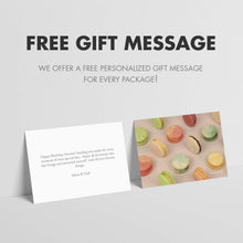 Load image into Gallery viewer, Kayla's Cake Premium French Macarons Cookies Gift Baskets Gourmet Chocolate Box Food Desserts Birthday Snack Care Packages College Students Holiday Christmas Thank You Condolences Women Men Classic 12