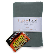 Load image into Gallery viewer, Happyluxe Travel Set, Includes Small Pillow, Wrap/Blanket, and Sleep Mask. Great for Airplanes, Trains, Cruise Ships, Relaxation,and More. Travel in Comfort, Arrive in Style. Made in USA (Sage Green)