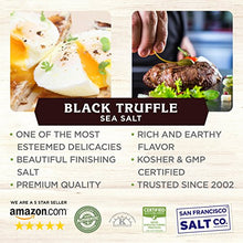 Load image into Gallery viewer, 8 oz. Chef's Jar - Authentic Italian Black Truffle Gourmet Sea Salt
