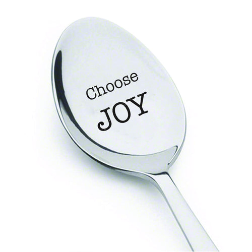 Choose joy Inspirational quotes Tea Spoon Holiday hostess gift kitchen decor coffee spoon perfect reminder gift to choose joy every day Christmas Spoon for Cocoa