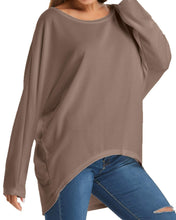 Load image into Gallery viewer, ZANZEA Women's Long Batwing Sleeve Loose Oversize Pullover Sweater Top Blouse Brown US 8/Tag Size M