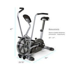 Load image into Gallery viewer, Marcy Exercise Upright Fan Bike for Cardio Training and Workout AIR-1