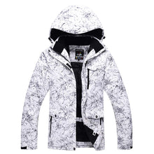 Load image into Gallery viewer, RIUIYELE Fashion Women's High Waterproof Windproof Snowboard Colorful Printed Ski Jacket and Pants