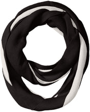 Load image into Gallery viewer, Calvin Klein Women's Bold Stripe Infinity Scarf, black, O/S