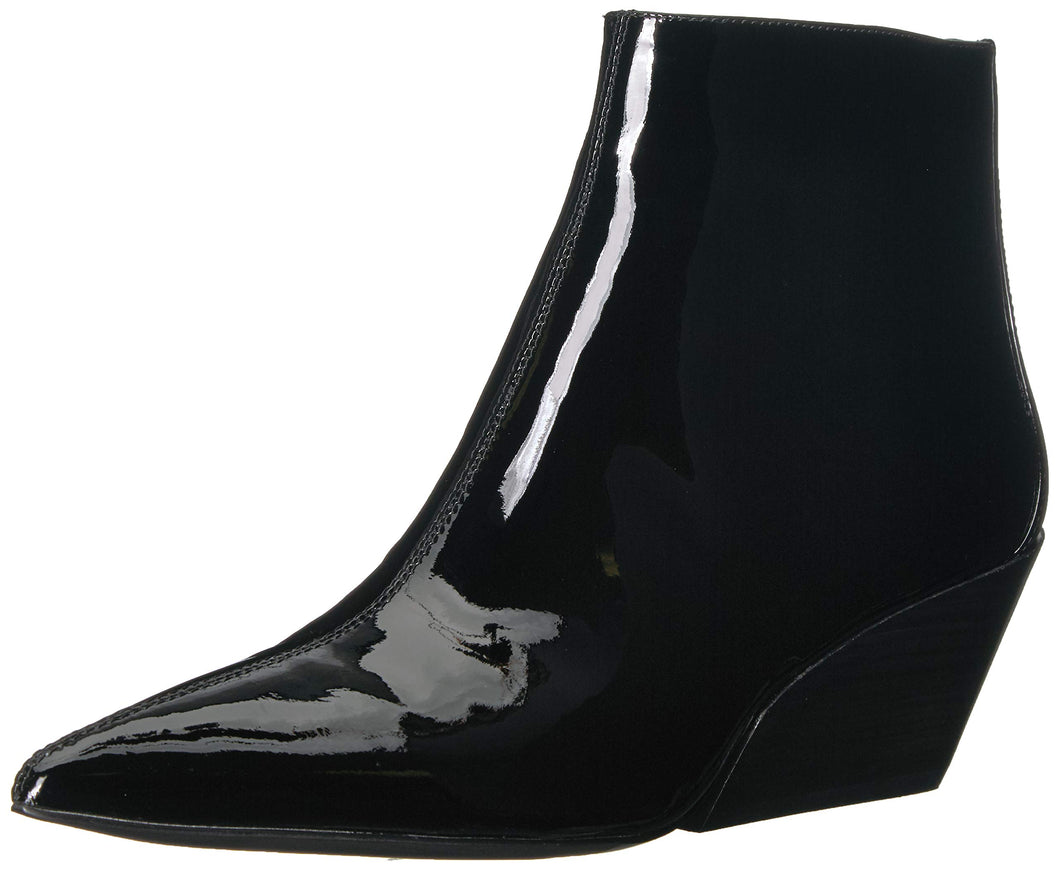 Calvin Klein Women's Freda Ankle Boot, Black Patent, 9 M US