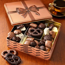 Load image into Gallery viewer, Gourmet Gift Basket - Chocolate Gift Box Food Gifts Prime - Keepsake Tin - Gift Basket - Corporate Gift Box, Assortment Tray - Birthday, Sympathy, Get Well, Men, Woman & Families - Bonnie & Pop