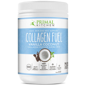 Primal Kitchen Collagen Fuel Protein Mix, Vanilla Coconut, Non-Dairy Coffee Creamer & Smoothie Booster- Supports Healthy Hair, Skin, Nails and Joints, 20 Ounce