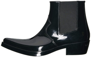 CK Jeans Men's Cole Ankle Boot, Black Rubber, 12 M US