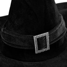 Load image into Gallery viewer, IDS Home Black Velour Witch Hat Halloween Fancy Dress Costumes