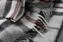 Load image into Gallery viewer, Prince of Scots Highland Tartan Tweed 100% Pure New Wool Throw ~ Grey Thompson ~