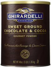 Load image into Gallery viewer, Ghirardelli Chocolate Sweet Ground Chocolate & Cocoa Beverage Mix, 48 oz Canister